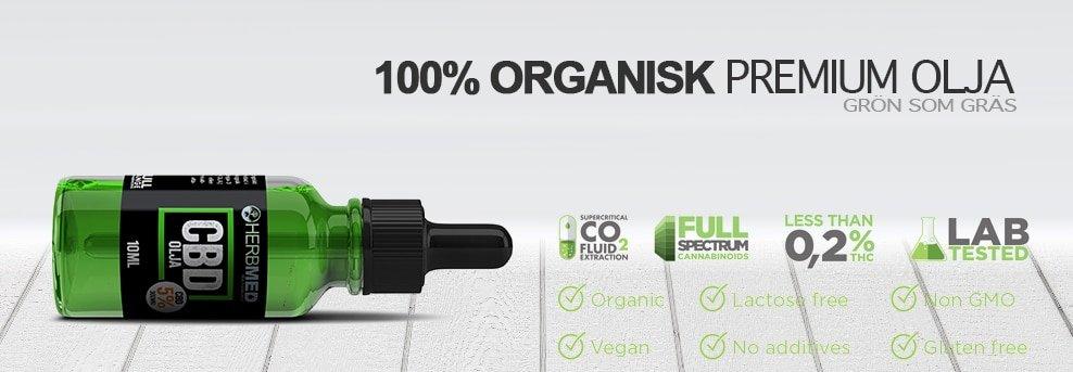 organisk CBD olja Sverige