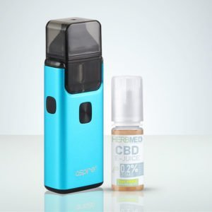 Aspire Breeze 2 Blå,CBD e-juice THC-fri på HerbMed