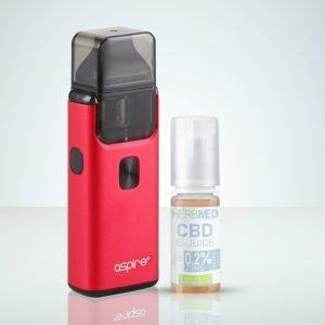 Aspire Breeze 2 Röd, CBD e-juice THC-fri på HerbMed