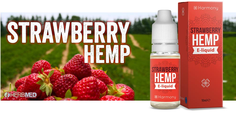Strawberry CBD smak e-juice