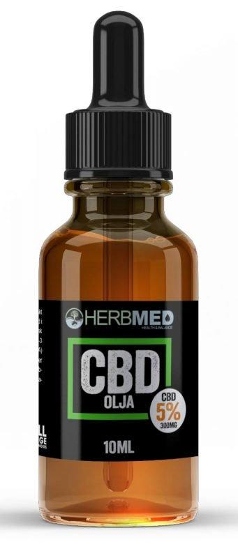 CBD flaska med Cbd olja inuti