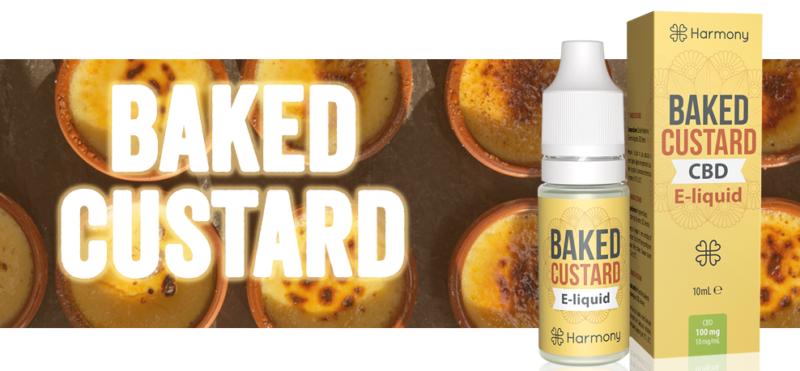 Harmony Baked Custard CBD e-liquid