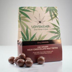 Love Hemp CBD Malt Chocolate Bites