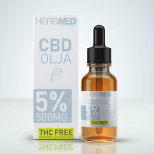 Herbmed CBD Oil 5% 500mg CBD - THC-free