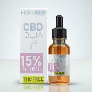 15% CBD olja THC-fri