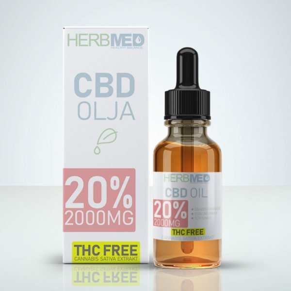 Herbmed CBD Oil 20% 2000mg CBD - THC Free