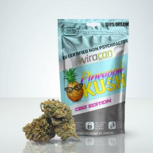 Pineapple KUSH CBG Buds Cannabis legal Sweden